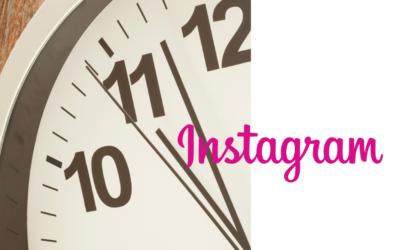 Quel est le meilleur moment pour publier sur Instagram ?