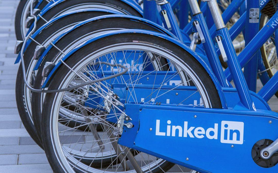 Linkedin écrit sur des vélos